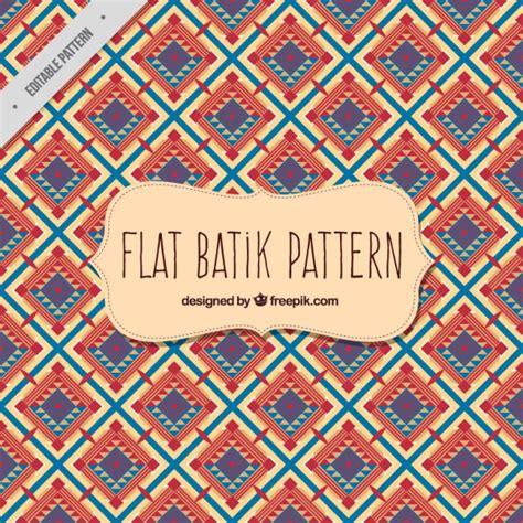 batik pattern design vector batik pattern in flat design vector free download