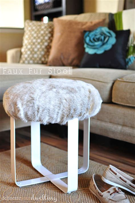 Cheap Faux Fur Stool by Top 30 Diy Projects Of 2014 With Tutorials