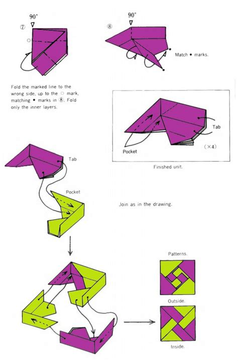 Origami Box Directions - beautiful origami box