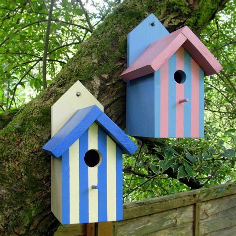 bird houses handcrafted beach hut bird house by siop gardd