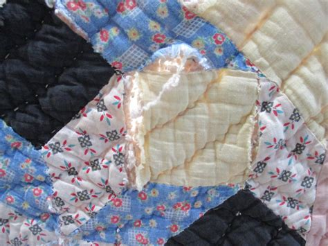 Quilt Lining by Antique 1800 S Feedsack Feed Sack Quilt Lined With