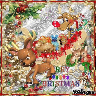 merry christmas rudolf  reindeer gif lots  animation  glitter httpblngsbkvd