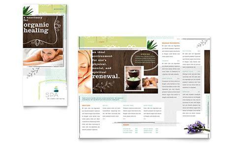 health beauty tri fold brochure templates word