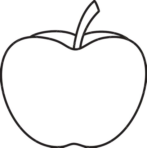 Apple Outline Png by Apple Outline Icons By Canva