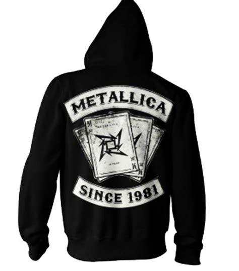 Hoodie Zipper Metalica Cloth official metallica hoody hoodie since 1981 dealer zip all sizes