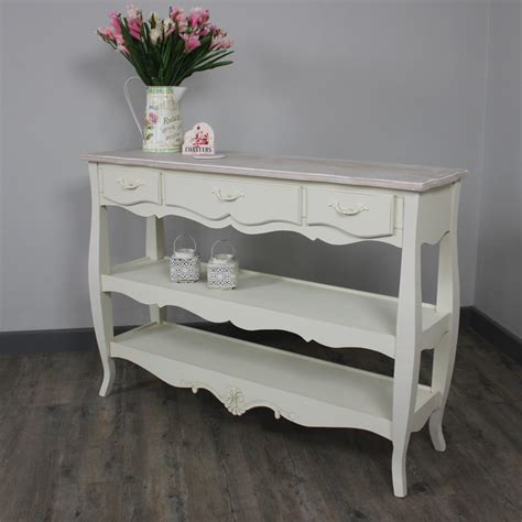 Sofa Table With Drawers And Shelf by Console Tables With Drawers And Shelf Brokeasshome