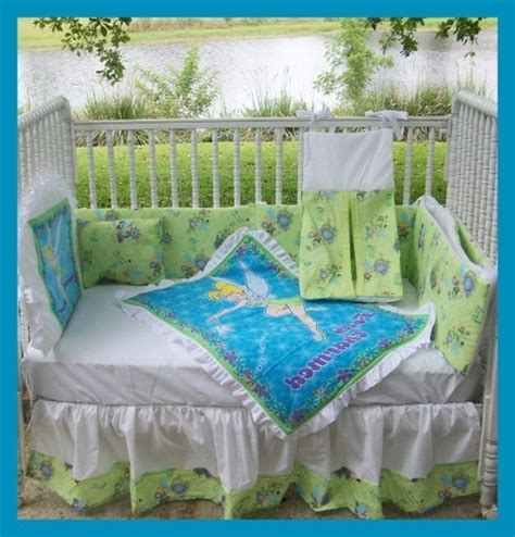Tinkerbell Crib Bedding Tinkerbell Crib Bedding Set Tinkerbell New Crib Bedding Set With 7 By Kustomkidsbedding