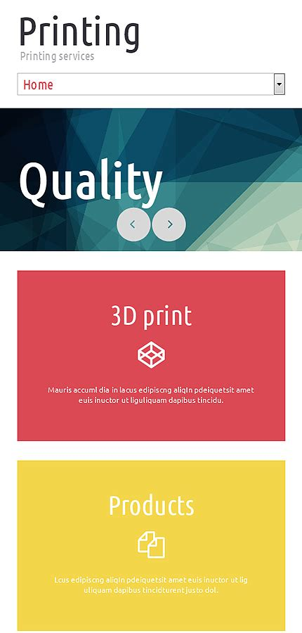 Print Shop Responsive Website Template 51780 Print Shop Website Template