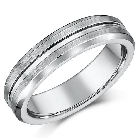 nickel free tungsten patterned wedding rings for and