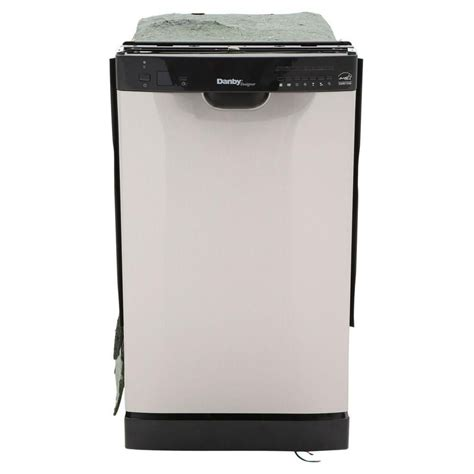 danby 18 inch built in dishwasher in black and stainless