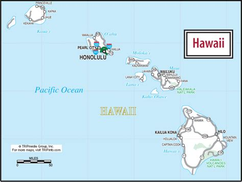 road map of hawaii hawaii travel planning