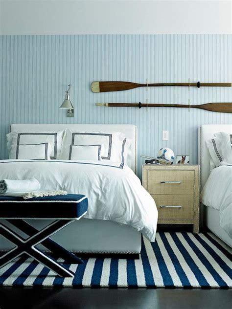 nautical boys bedroom cottage boy s room phoebe howard blue coastal cottage bedroom beadboard walls my style