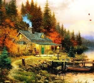 kinkade autumn paintings painting