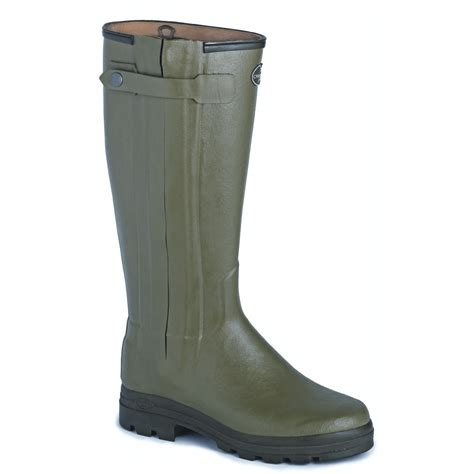 chasseur zipped and leather lined wellington boots