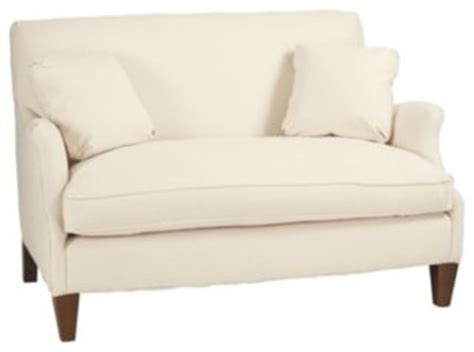 hudson settee hudson upholstered settee contemporary loveseats by