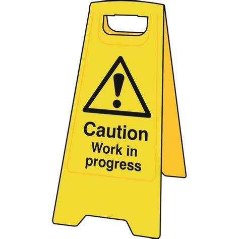 caution work in progress floor sign stand 4715