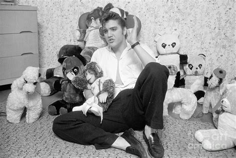 elvis presley army teddy bear wood cover for sale in galway 50 elvis presley at home with teddy bears 1956 photograph by