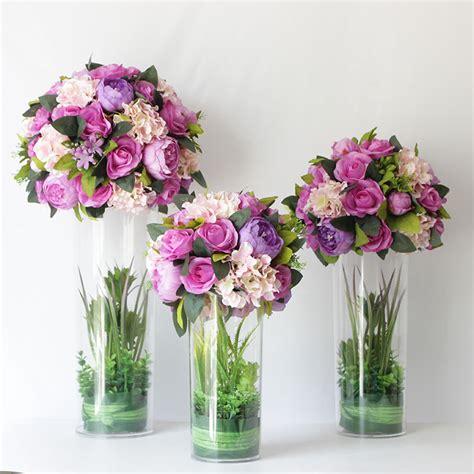 Popular Purple Flowers Centerpieces Buy Cheap Purple Purple Flower Arrangements Centerpieces