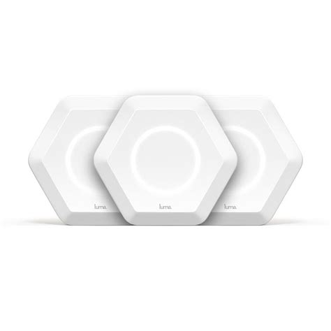 luma intelligent home wi fi system white 3 pack 417419