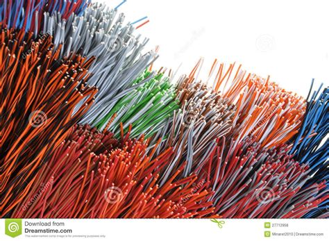 bundles of wires stock photo image of curl business
