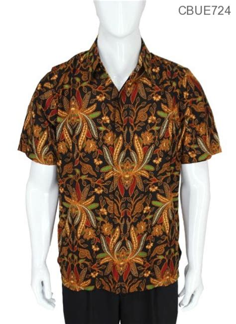 Kemeja Batik Baturaden M kemeja batik baturaden motif pisang kemeja pendek murah