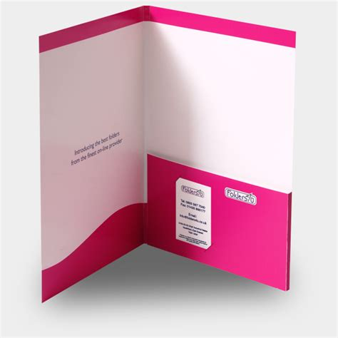 a4 folder template with business card slot a4 6mm capacity folder with glued pocket and slots for