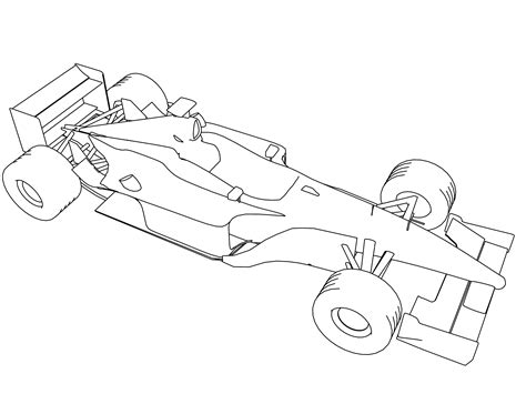 Formula 1 Sketches by Formula One Car Coloring Pages