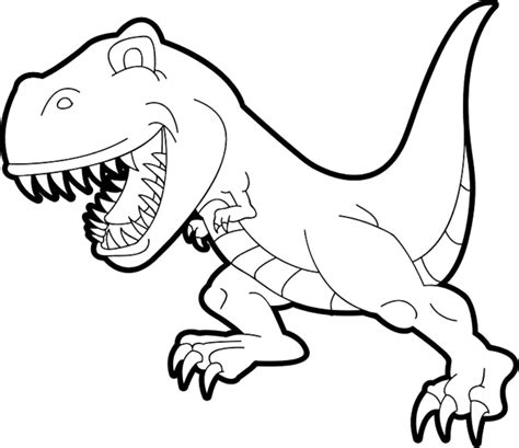 cartoon t rex coloring page simple t rex coloring pages printable kids colouring pages