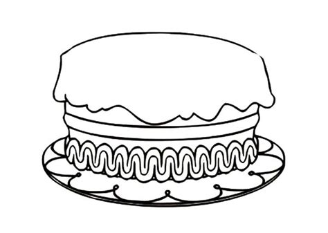 How To Draw Birthday Cake Colouring Page Happy Colouring Cakes Colouring Pages