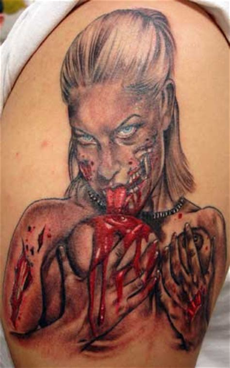 hot zombie tattoo celebrity image gallery women tattoo