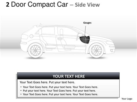 2 door compact cars 2 door blue compact car view powerpoint presentation