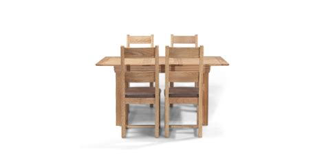 Oak Extending Dining Table And 4 Chairs Breton Oak 125 165 Cm Extending Dining Table And 4 Chairs