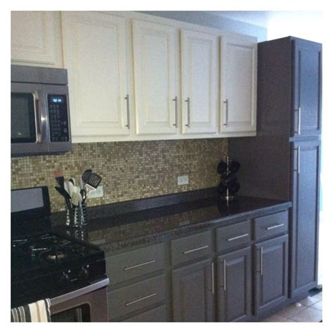 painting kitchen cabinets two colors curly girl kitchen before during after