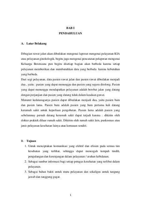 format askep rawat jalan sistem dokumentasi pelayanan di unit rawat jalan