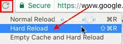 chrome hard refresh google chrome hard reload button