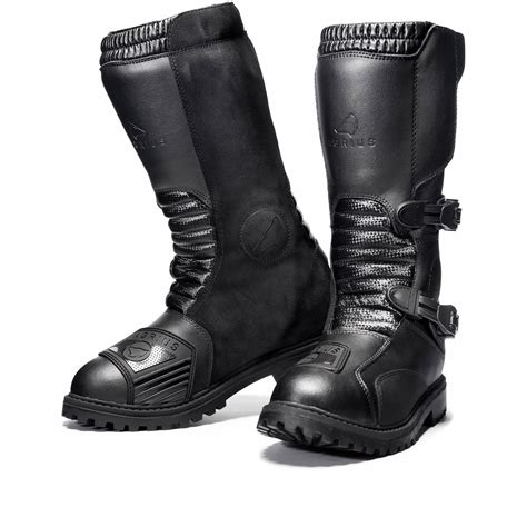 Sepatu Boots Bikers Kulit Adventure Country Boot Touring Motor agrius motorcycle boot motorbike touring protection leather adventure ebay