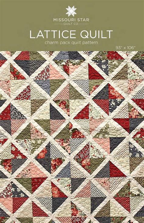 Missouri Quilt Company Charm Pack Tutorial by Digital Lattice Quilt Pattern From Missouri