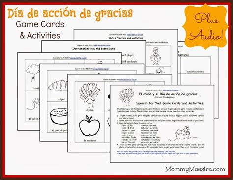 free printable spanish thanksgiving cards 1000 images about spanish freebies on pinterest kids at