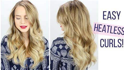 how to curl s hair easy heatless curls hair tutorial youtube