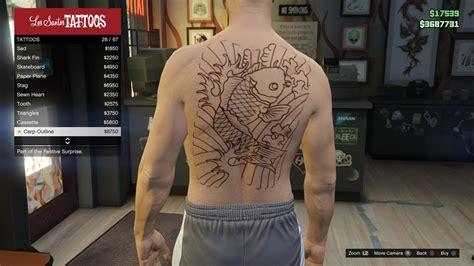 gta online tattoo unlocks image tattoo gtav online male torso carp outline jpg