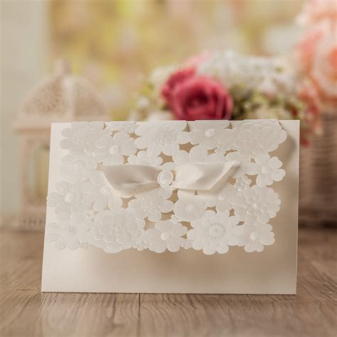 Paper Store Wedding Invitations by Laser Cut Wedding Invitations Blank Wedding Cards Pearl