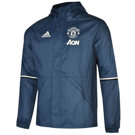 Jaket Zipper 2 The Real Gresik United Supporter adidas manchester united fc away jacket 2016 2017 mens blue navy football soccer