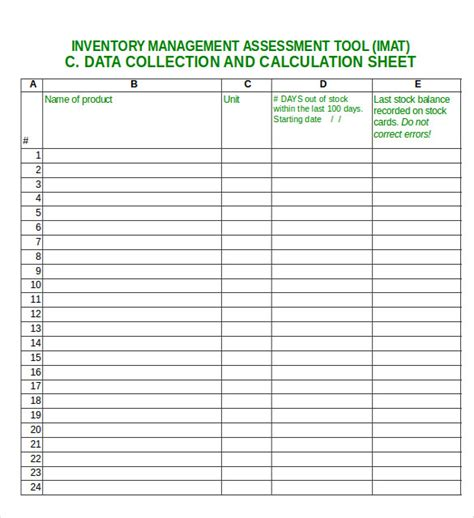 inventory management plan template 14 excel inventory templates free sle exle