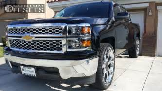 Chevy Truck Custom Wheels Wheel Offset 2014 Chevrolet Silverado 1500 Nearly Flush