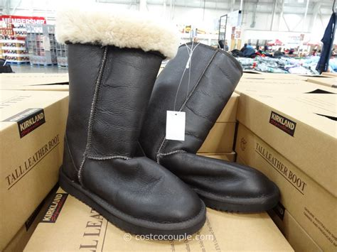 boots costco kirkland signature leather shearling boot