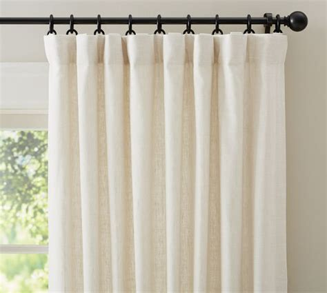 how to iron linen curtains emery linen cotton drape pottery barn 50x84 quot w blackout