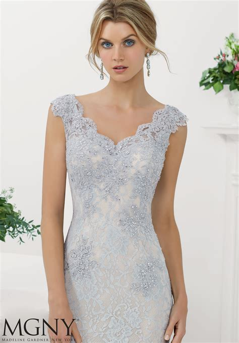 appliques for dresses stretch lace evening gown with beaded appliques and edging