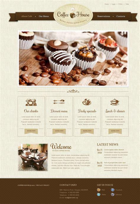 Coffee Shop Website Template 37376 Coffee Shop Website Template Free