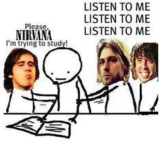 Kaos Classic Rock Band Nirvana 1988 nirvana back to the future meme amended version by bunniboila original version said 1988