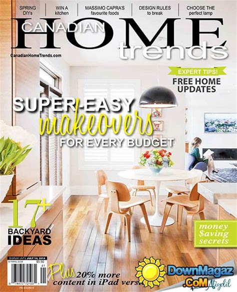 canadian home decor magazines canadian home trends spring 2014 187 download pdf